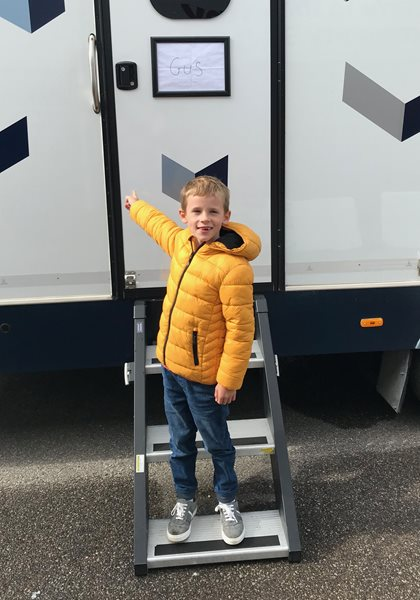 Stagecoach Student Gus makes TV Debut